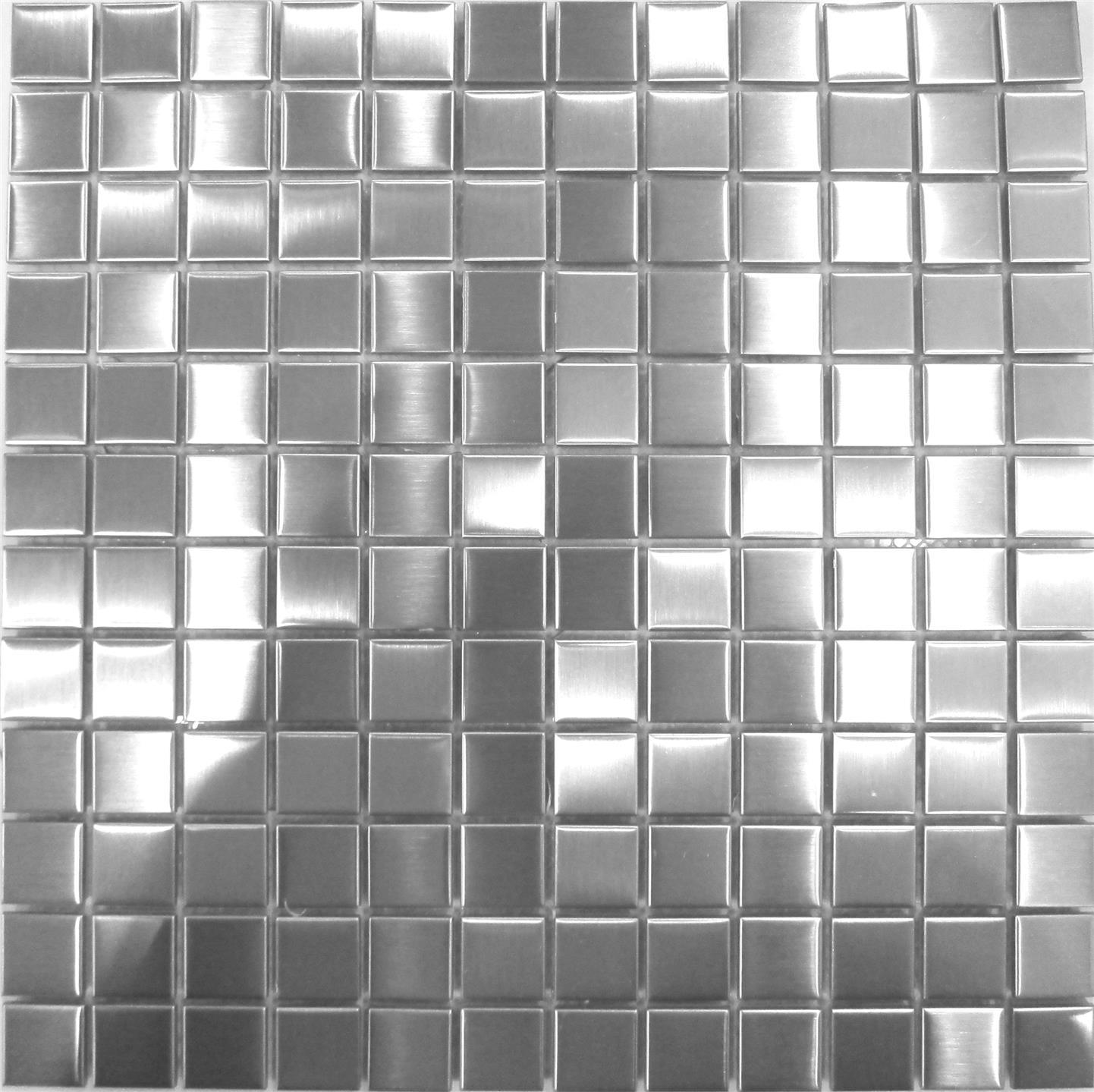 Brushed Stainless Steel Metal Mosaic Wall Tiles Bathroom Kitchen Sheet Mt0036 Ebay