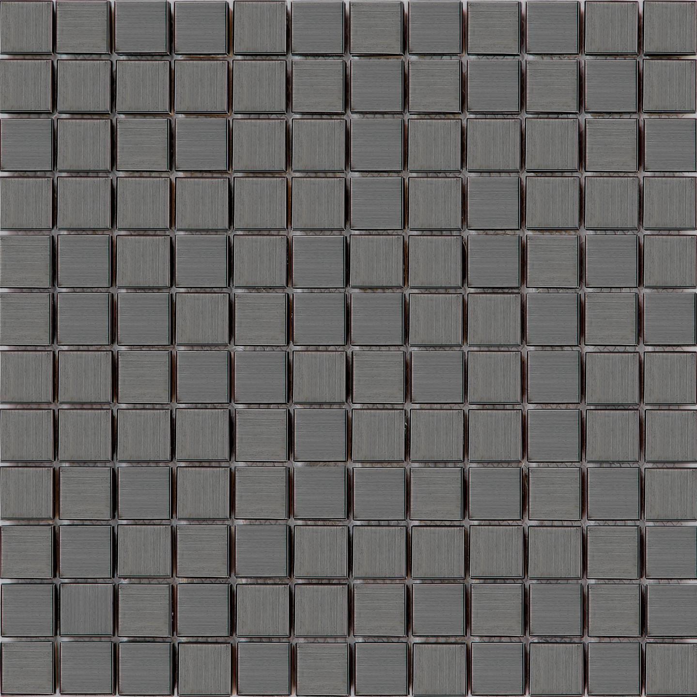 Sample Stainless Steel Insert Marble Stone Beige Mosaic: Stainless Steel Brushed Black Metal Bathroom Kitchen