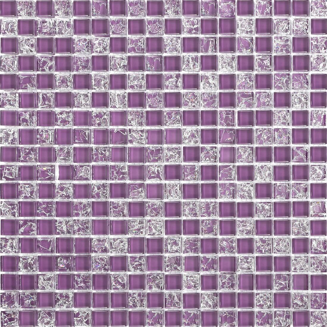 gebrochenes crackled glas mosaik fliesen matte schwarz rot. Black Bedroom Furniture Sets. Home Design Ideas