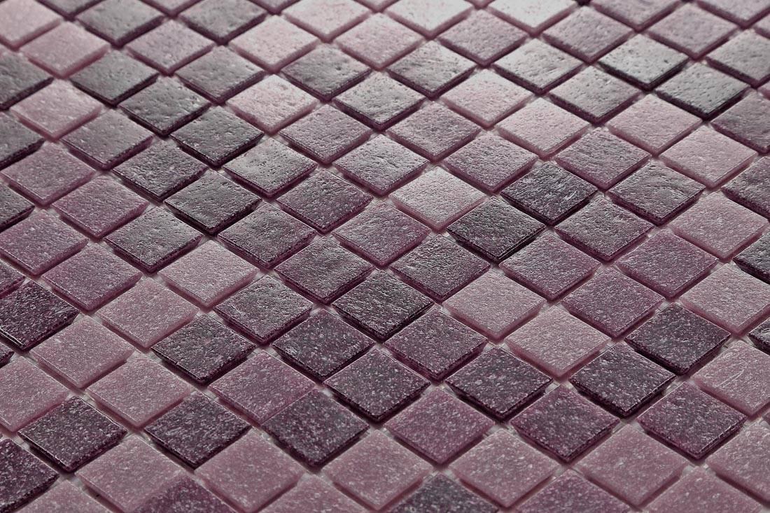 1qm mosaik wand fliesen matte glas lila pink bad dusche. Black Bedroom Furniture Sets. Home Design Ideas