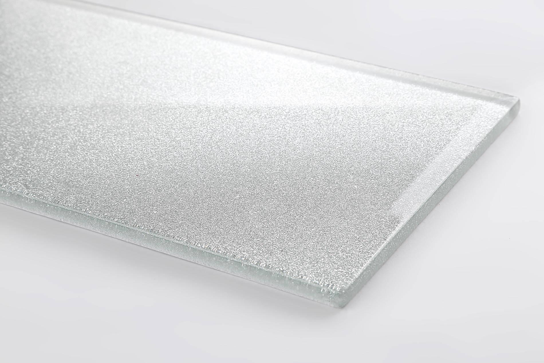 Weisse Fliesen Mit Glitzer Küchengestaltung Kleine Küche - Bodenfliesen mit glitzereffekt