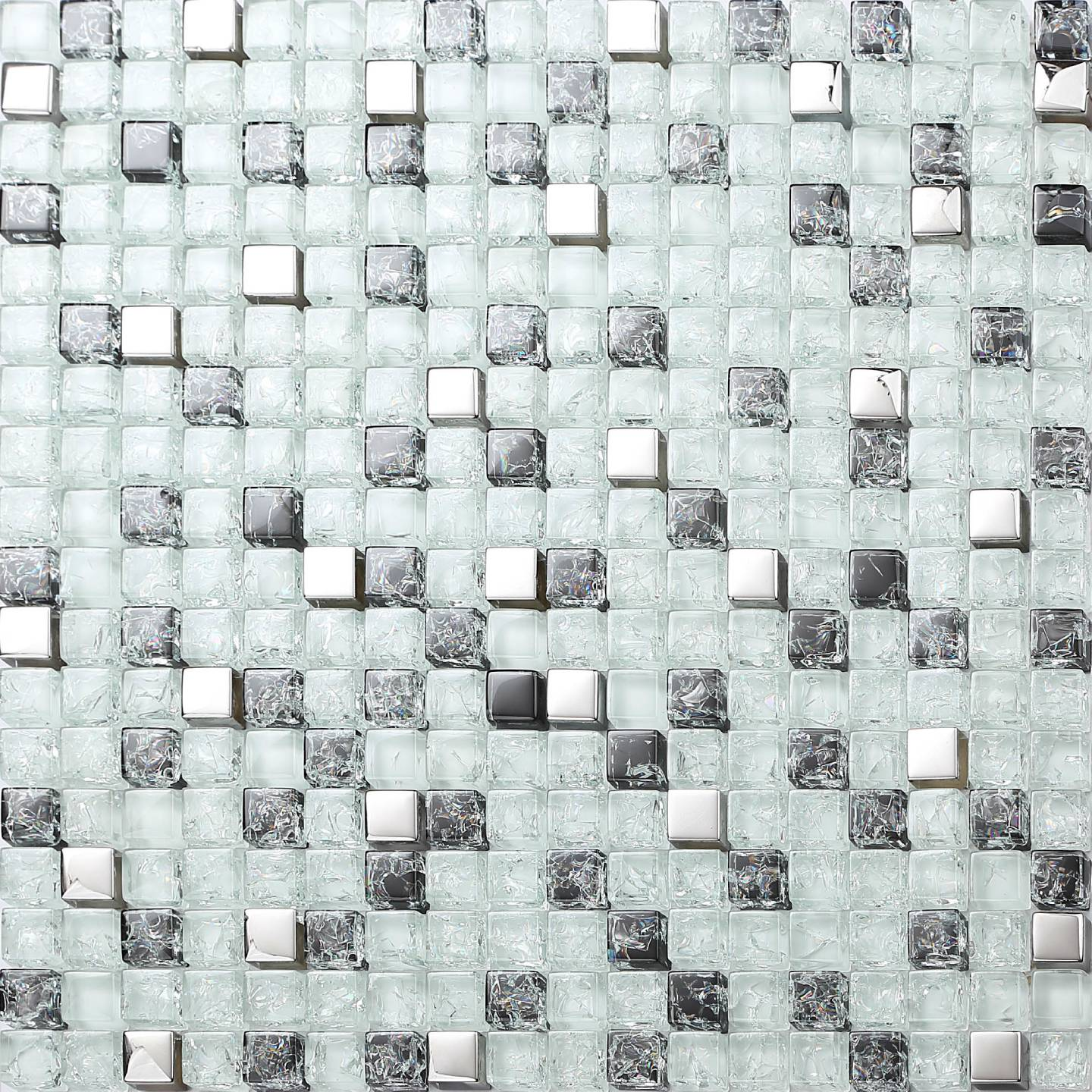 Glass Crackle Mosaic Tiles Sheets Bathroom Shower Kitchen Splashback