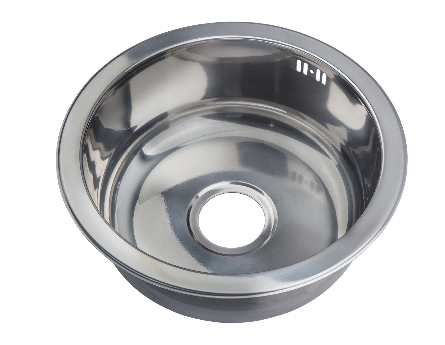 pact sink single 1 round bowl inset stainless steel boat