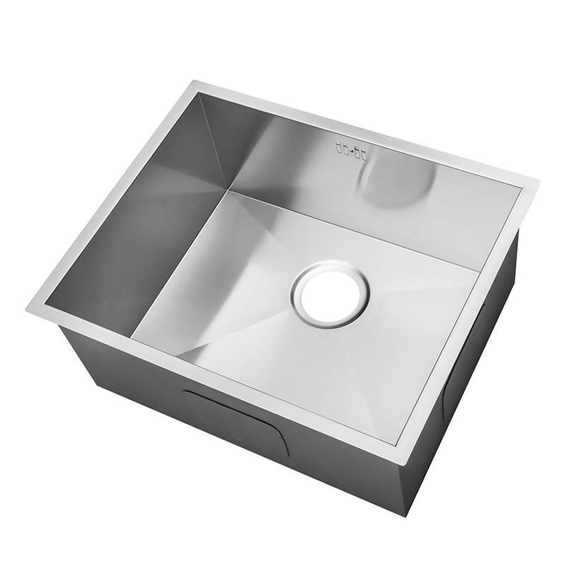 Groß Handgefertigtes Nullradius eckiges Küchen Spülbecken für den Unterbau