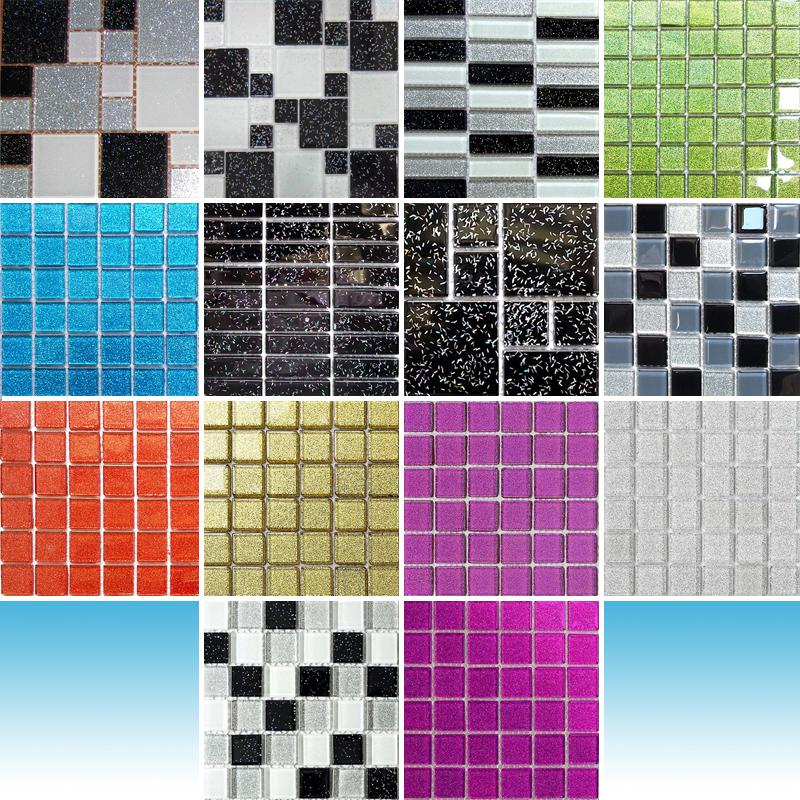 Trade Budget Glitter Mosaic Tile Sheets Glass Bathroom Borders Splashback  Tiles. Bathroom Splashback  Home  Furniture   DIY   eBay