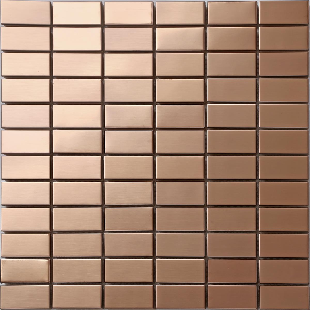 Image Is Loading 1 Sq M Copper Effect Mosaic Wall Tiles