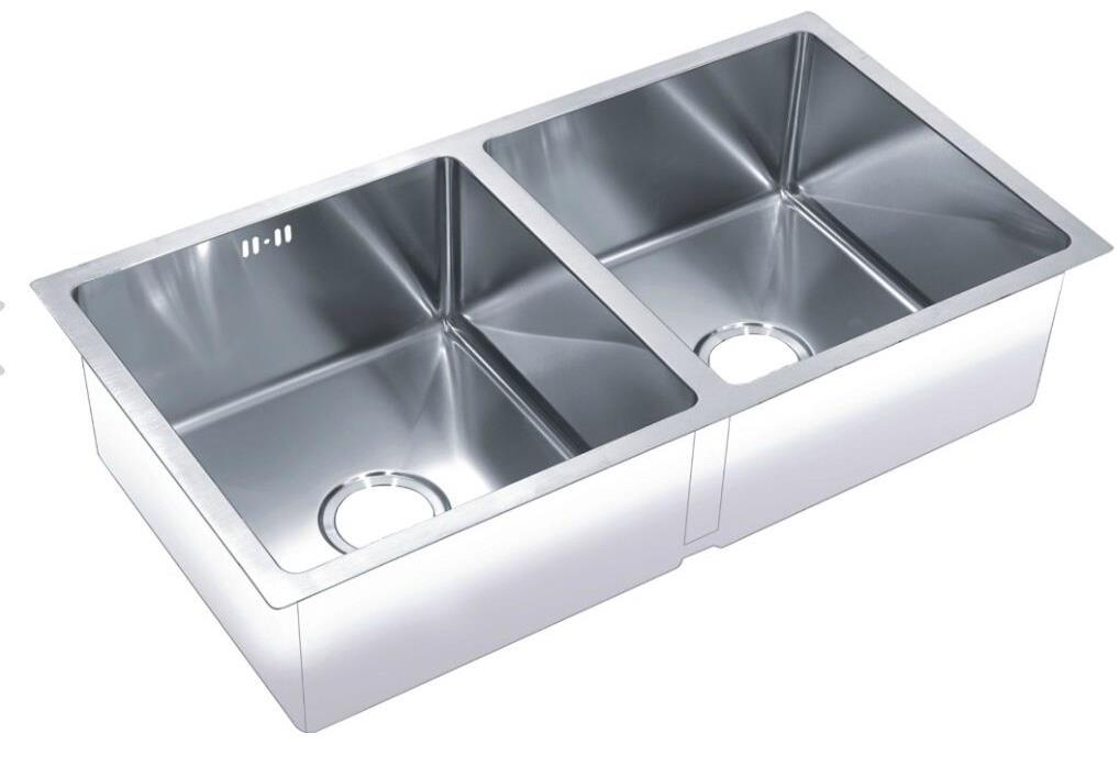 Do Stainless Steel Sinks Rust : ... Double 2.0 Bowl Satin Stainless Steel Undermount Kitchen Sink (DS031