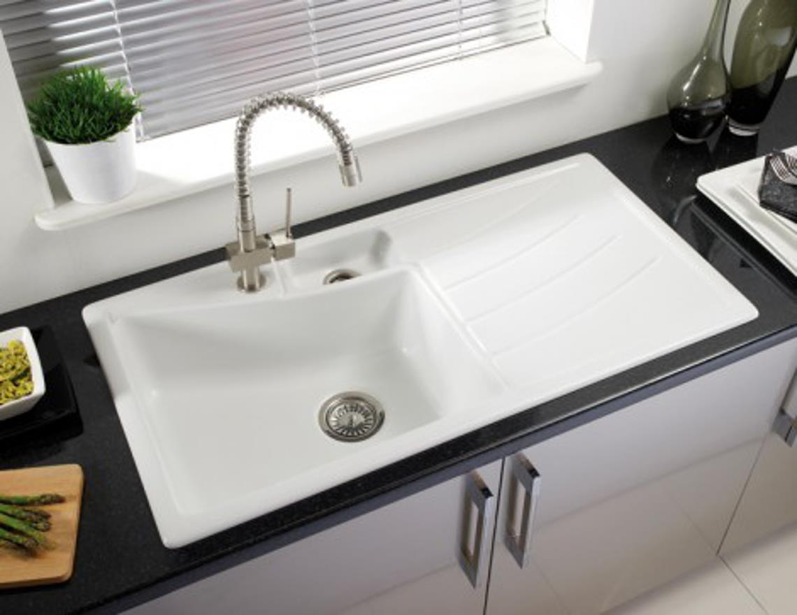 about astracast onesto 1 5 rhd inset ceramic kitchen sink oo15whnexskr