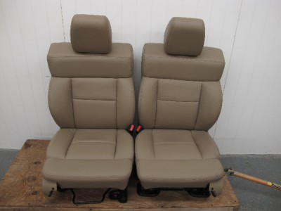 2004 2005 2006 2007 Ford F150 Crew Cab Truck Tan Leather Bucket Seats
