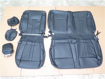 2015 2016 ford f150 super crew black katzkin leather seat cover set ebay. Black Bedroom Furniture Sets. Home Design Ideas
