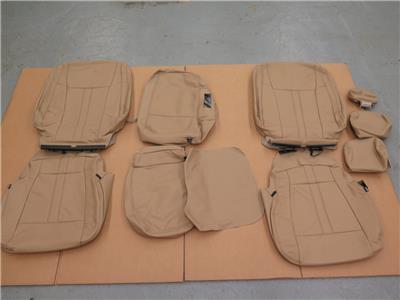 2015 16 ford f150 super crew tan katzkin leather seat cover set install video ebay. Black Bedroom Furniture Sets. Home Design Ideas