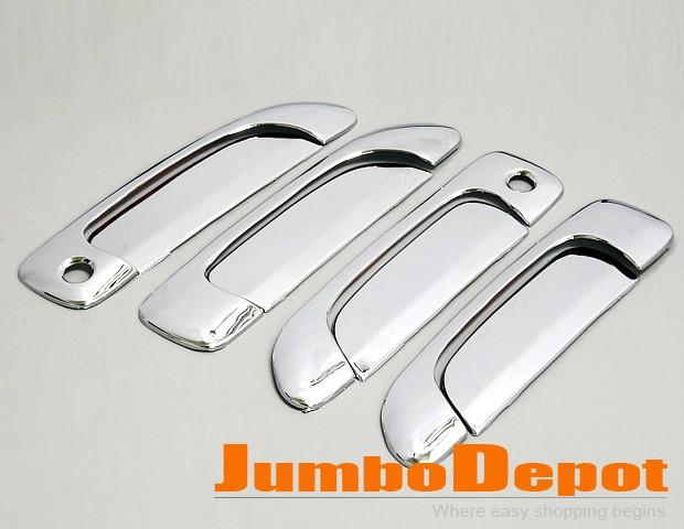 Chrome door handle cover trim kits new for 2001 2003 2002 for 2001 honda civic window trim