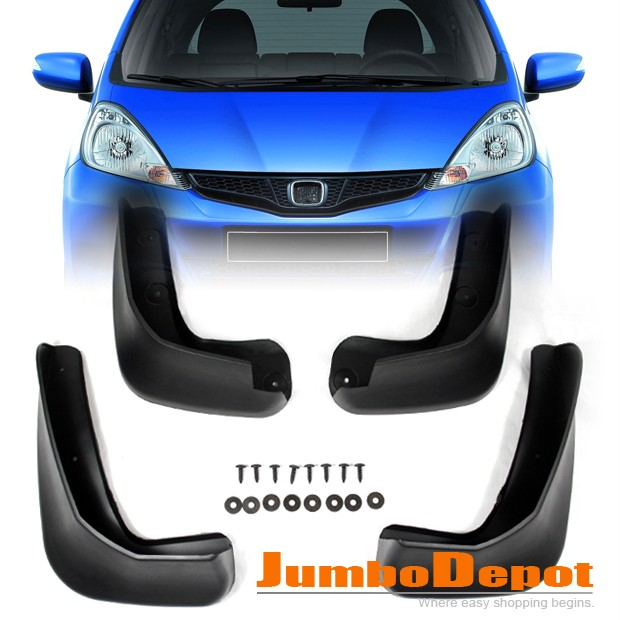 09 10 honda fit jazz tire mud guards splash flaps new ebay. Black Bedroom Furniture Sets. Home Design Ideas