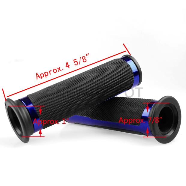 7 8 Quot 2pcs Motorcycle Aluminum Rubber Handlebar Grip Black Amp Blue For Bmw F650 Nd Ebay