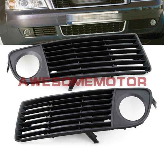 Pair Front Lower Bumper Side Fog Light Insert Grille For