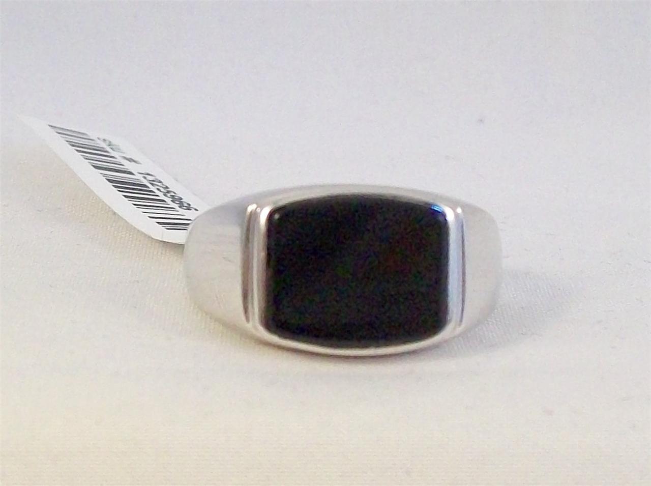 black onyx sterling silver mens ring ebay