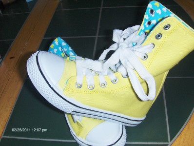 Details about GIRLS HIGH TOP TENNIS SHOES