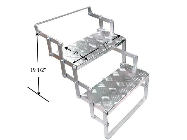 Aluminum Double Rv Folding Scissor Step Camper Trailer Ebay