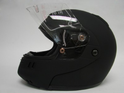 Modular Flip Up Motorcycle Full Face Helmet Black sz XL