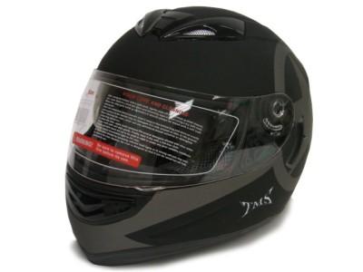 DUAL VISOR FULL FACE MOTORCYCLE HELMET W/SMOKE SUN SHIELD S~2XL