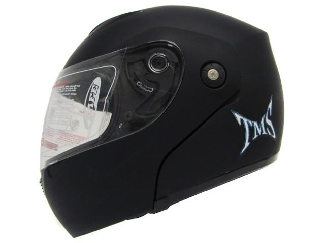 MATTE/FLAT BLACK DOT MODULAR FULL FACE FLIP UP MOTORCYCLE STREE BIKE