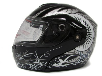 DOT MODULAR FULL FACE FLIP UP MOTORCYCLE STREE BIKE HELMET ~XL