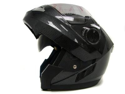 CARBON FULL FACE MODULAR MOTORCYCLE FLIP UP HELMET ~M