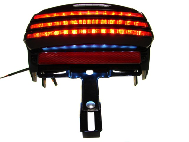 Led Lights For Harley Davidson Fat Bob : Smoke tri bar fender led tail brake light for harley dyna