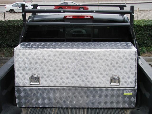 56 l aluminum tool box storage truck pickup bed car - Pickup bed storage boxes ...