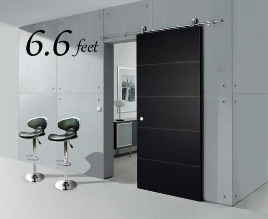 6 6 FT Modern Stainless Steel Interior Sliding Barn Wood Door Hardware Track
