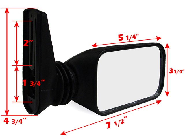 Snowmobile Side Mirrors : Adjustable side view wing mirror for arctic cat honda