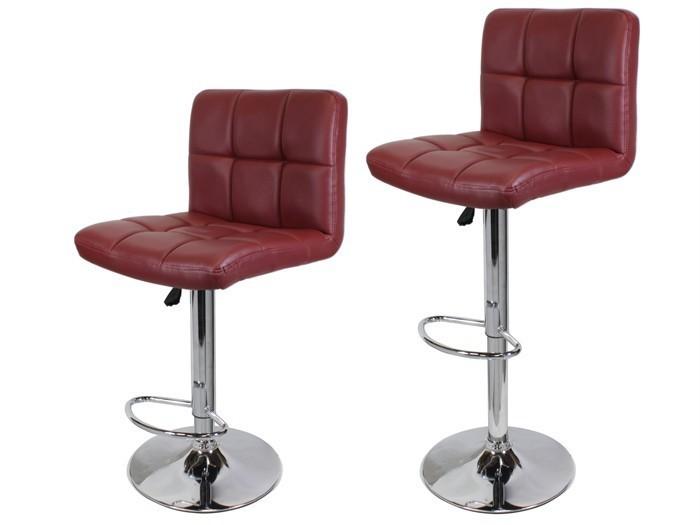 red adjustable bar stools