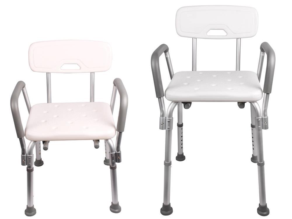 Medical Shower Chair Bath Seat W Adjustable Legs U0026 Optional Back   Bath  Chair