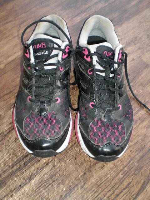 Ladies-Ryka-Re-ngage-Runners-Black-Pink-US7