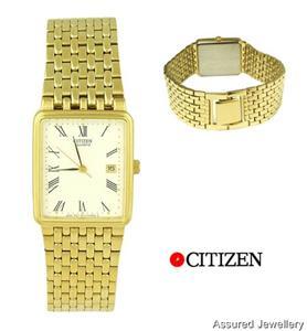 Citizen Gents Dress Watch Gold Colour Stainless Steel