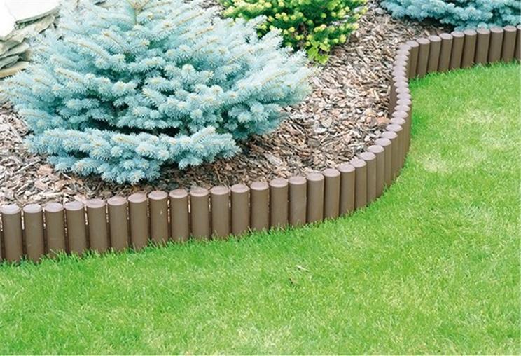 Ol5 Garden Log Roll Fence Lawn Edging Boarder Edge Fencing