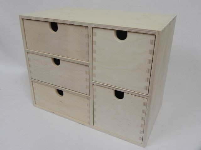 Details about PLAIN WOOD WOODEN STORAGE BOX CUPBOARD CHEST OF DRAWERS ...