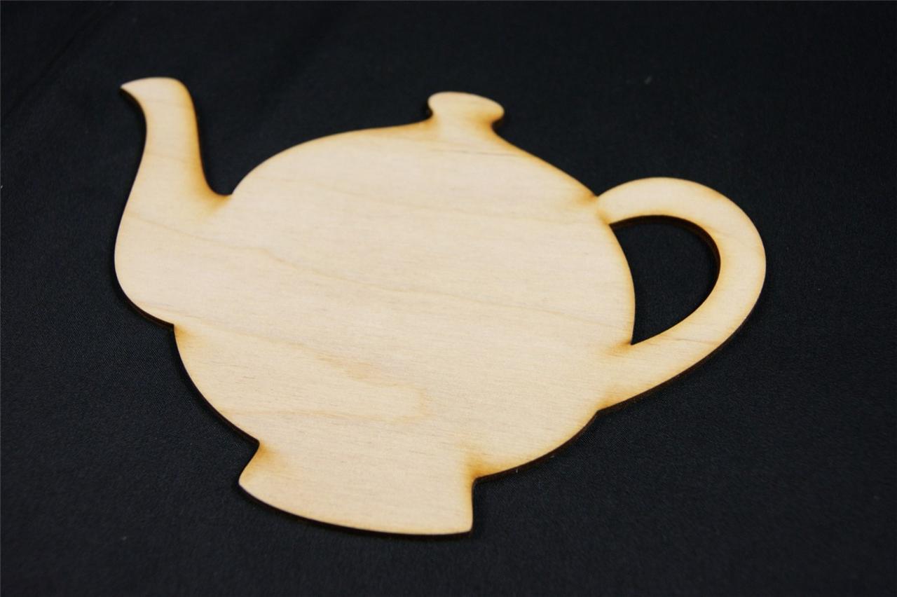 Wx5 10 X Wooden Teapot Jug Pot Shapes Blank