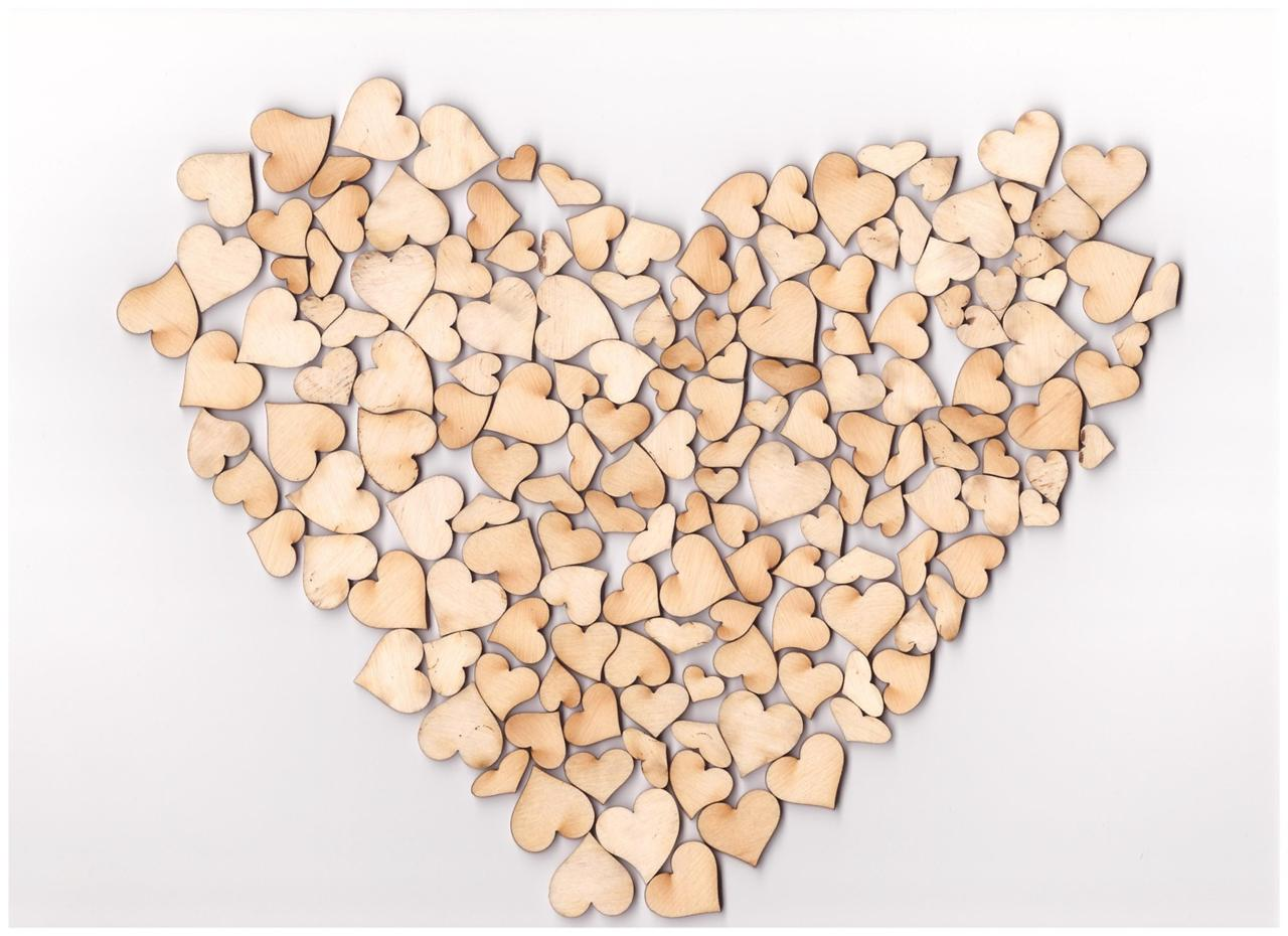 Mini wooden hearts mix embelishments adhesive small hearts for Wooden hearts for crafts