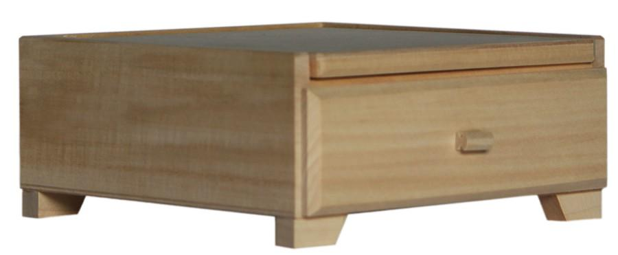 New Plain Wooden Box With Mirror And Drawer 9 X 21 X 20 5
