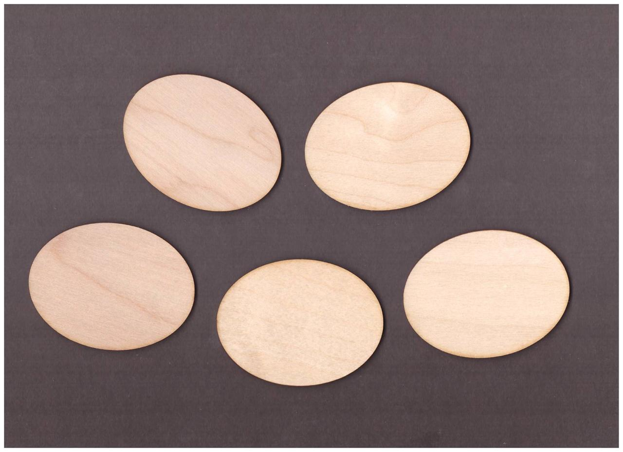 10x Wooden Oval Blank Plaque Embellishment Craft Hanging Shape Decoration (W66) -> Table Oval Laque
