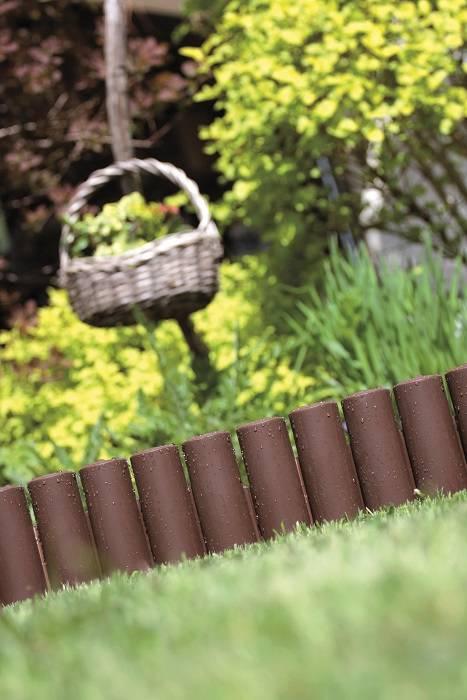 MAXI Garden Fence Lawn Edging Edge Palisade Fencing Plastic Garden Log Roll Kerb