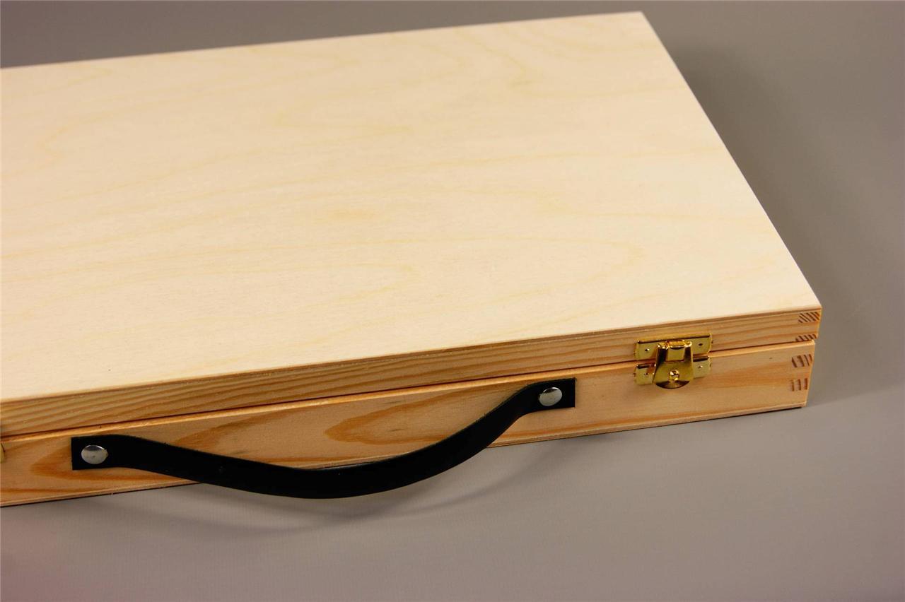 Large Wooden Suit Case Plain Wood Wooden Suitcase Plain