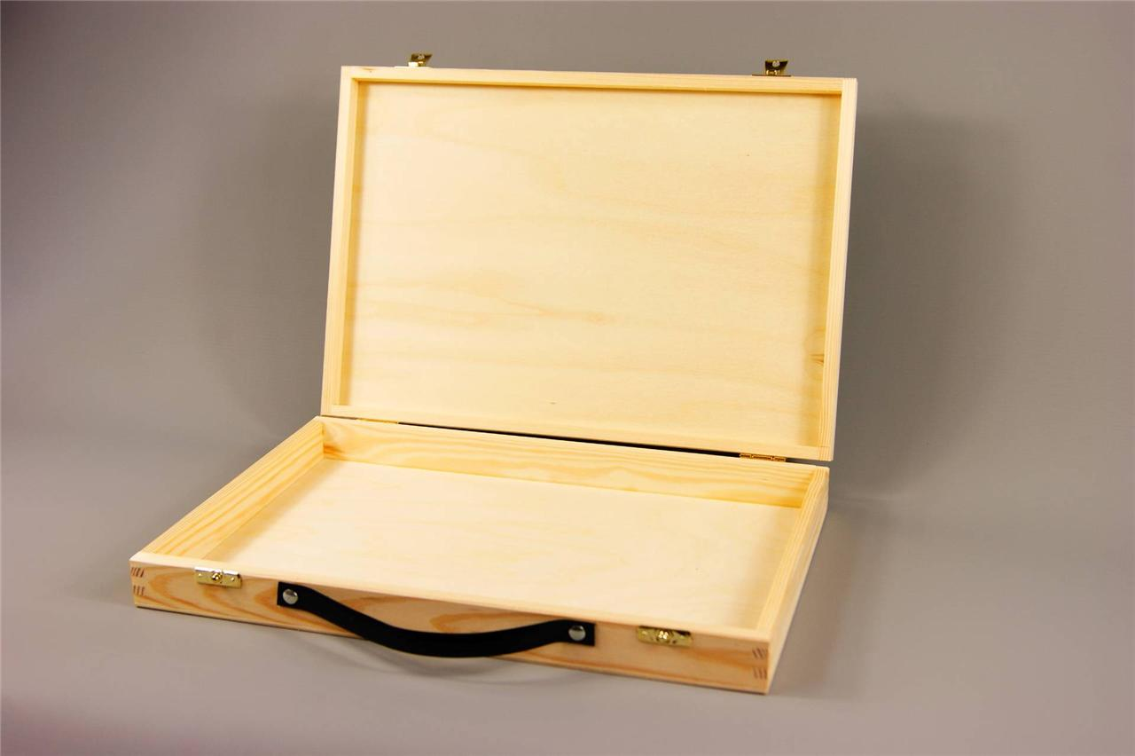 Large Wooden Suit Case Plain Wood Wooden Suitcase Plain