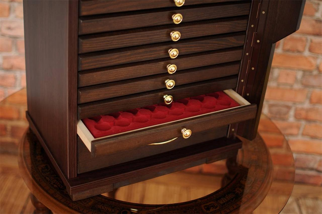N 10 1w Coin Tray Collectors Collection Cabinet For 10