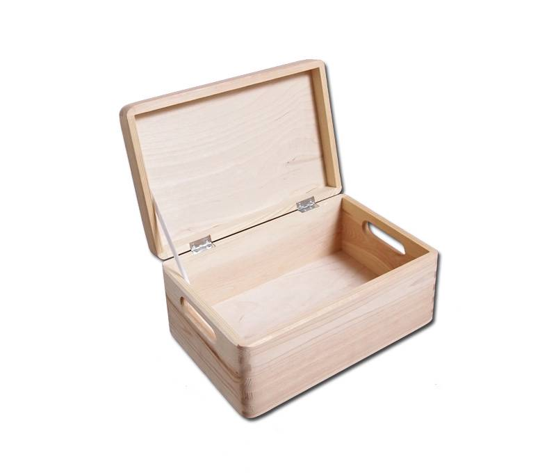 Sk pk plain wood keepsake souvenirs memory box craft with for Craft boxes with lids