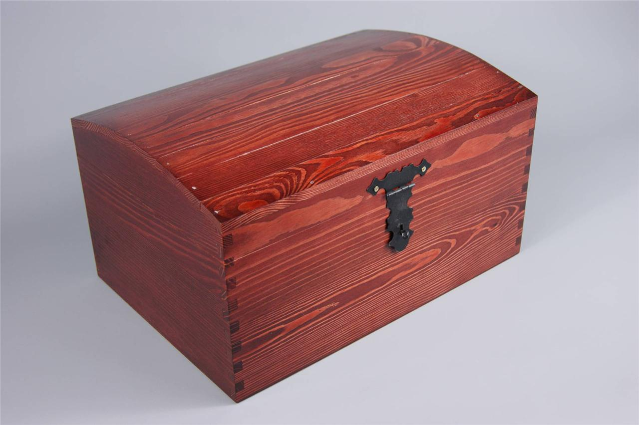 LAQUERED X LARGE TREASURE CHEST WOODEN BOX MEMORY BOX TRINKET SOUVENIR ...