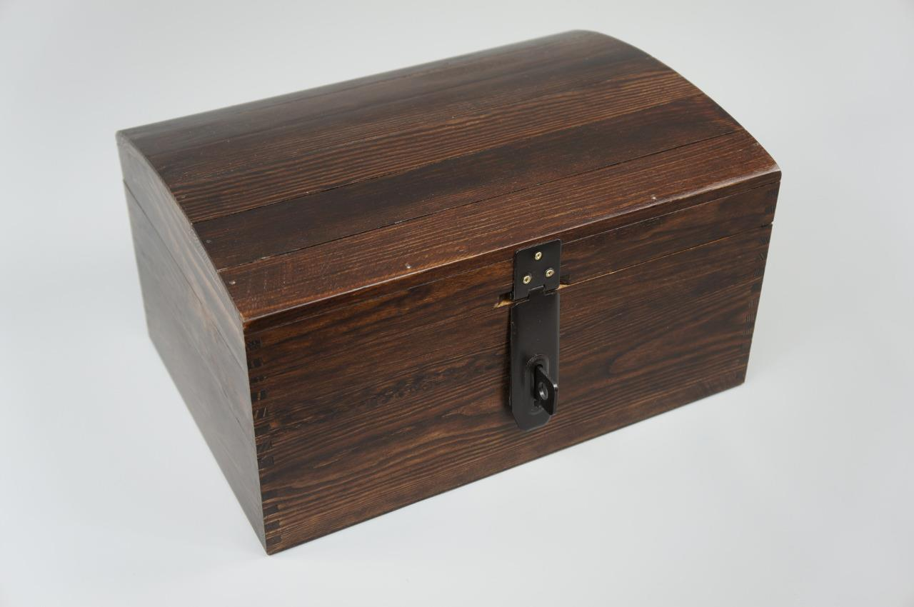 brown x large lockable treasure chest wooden box memory box trinket gift so22bl ebay. Black Bedroom Furniture Sets. Home Design Ideas