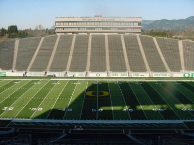 Autzen Stadium Club Seats http://www.ebay.com/itm/2-Oregon-Duck-vs-Arizona-State-ASU-Football-Tickets-50-YARD-LINE-Donor-Section-/330621913272