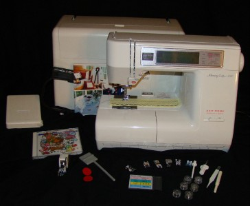 janome memory craft 8000 embroidery sewing machine